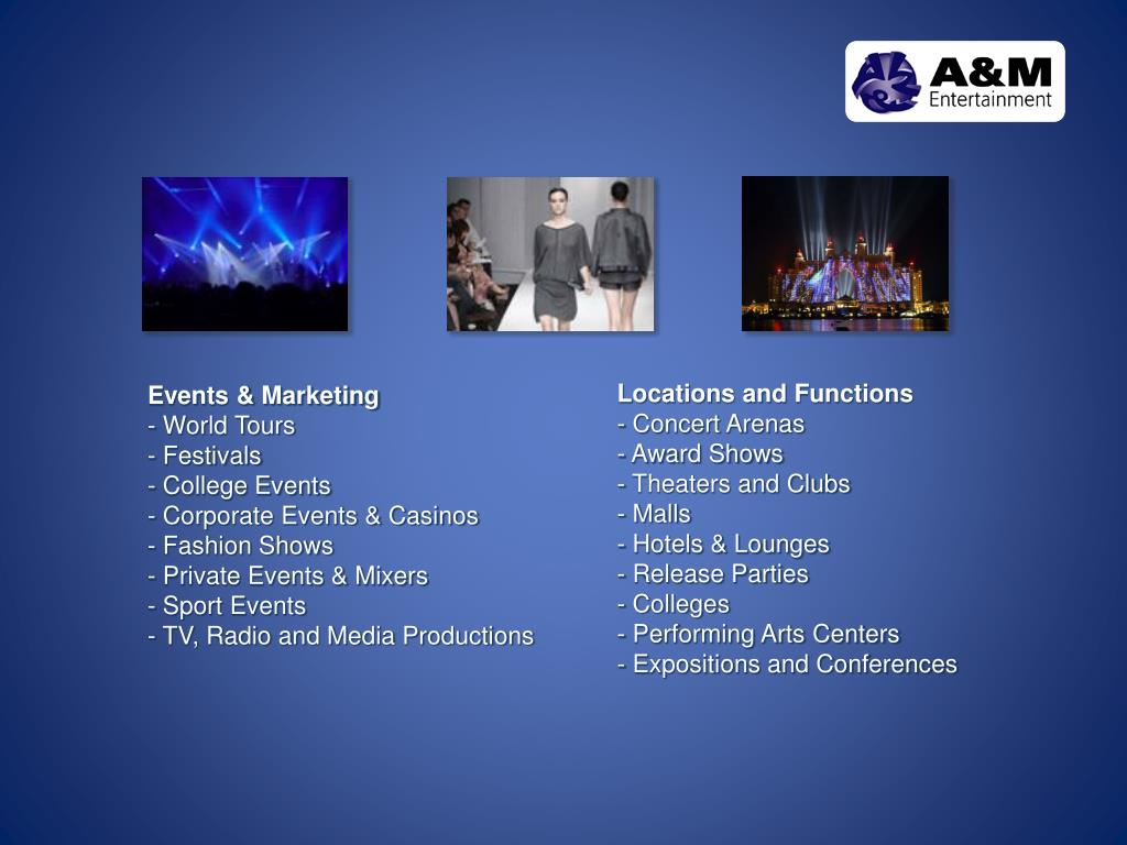 Events & Marketing
