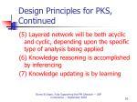 design principles for pks continued51