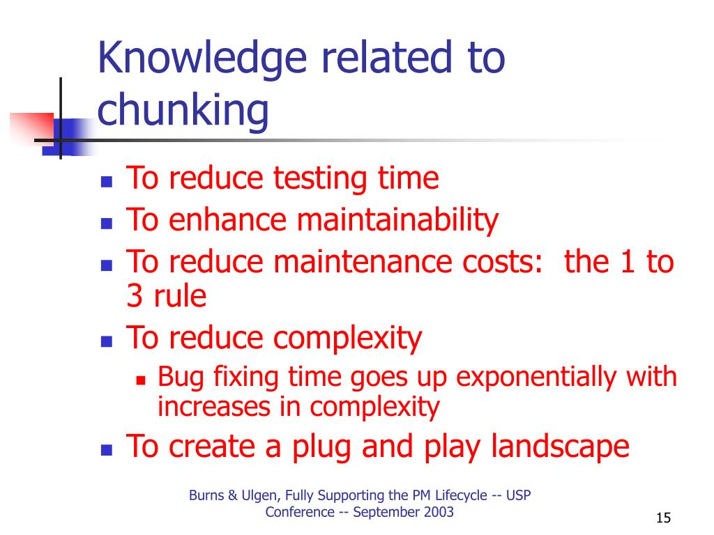 Knowledge related to chunking