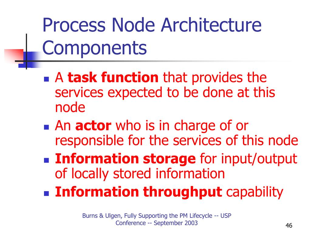 Process Node Architecture Components