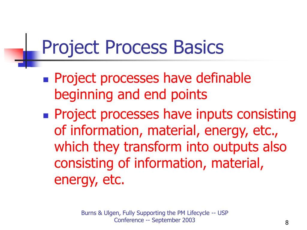 Project Process Basics