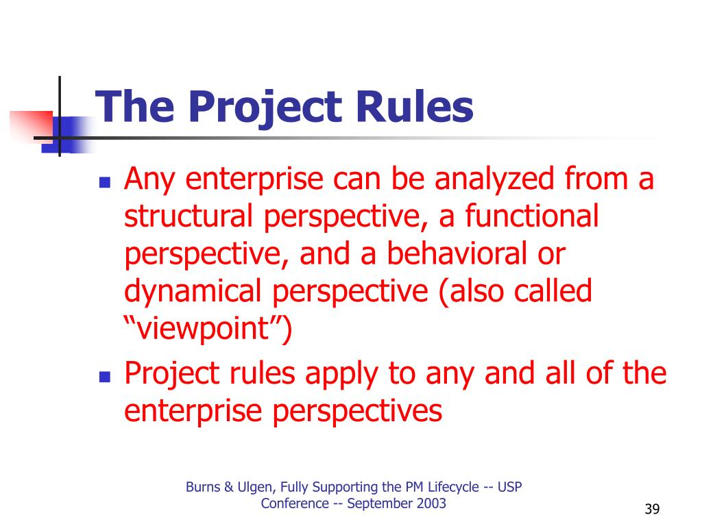 The Project Rules