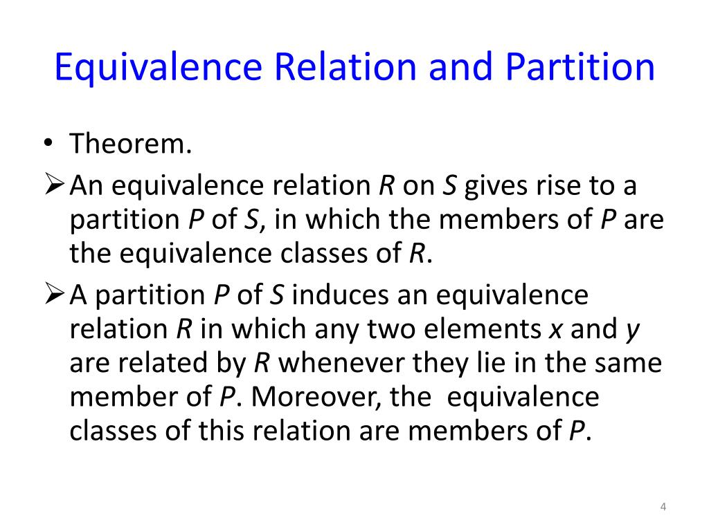 equivalence relation and order relationship