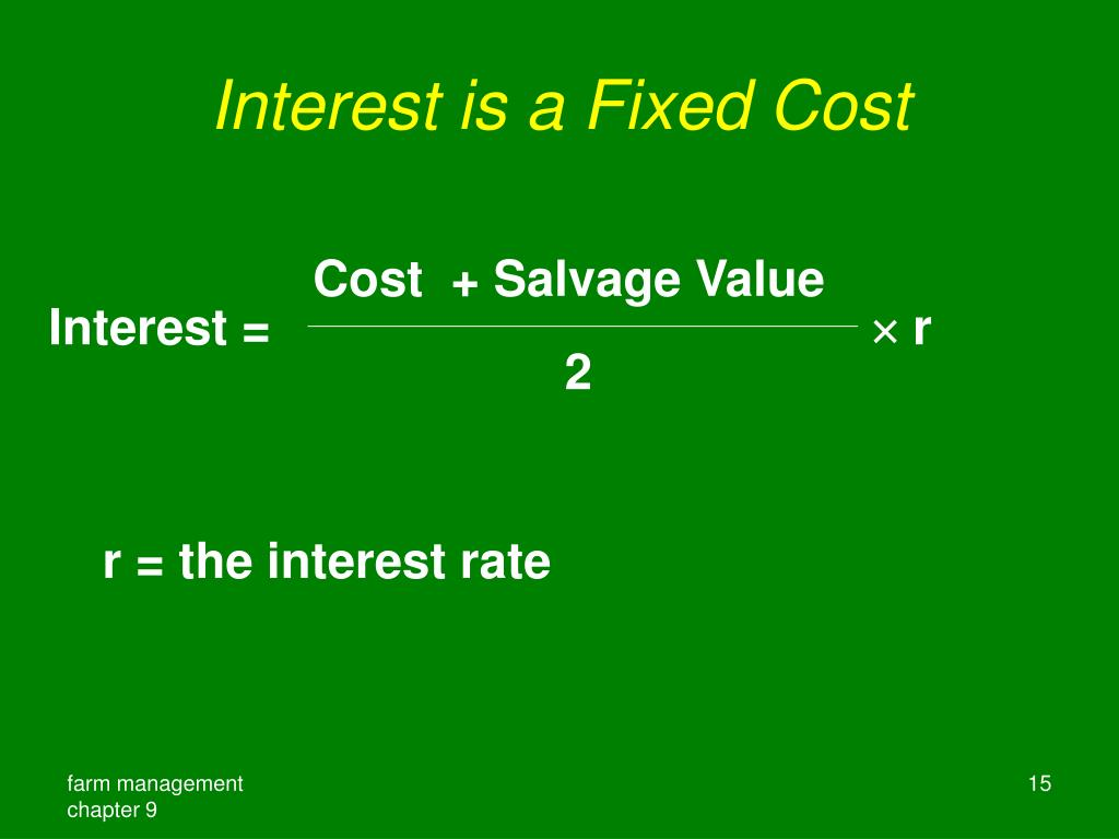 Interest is a Fixed Cost