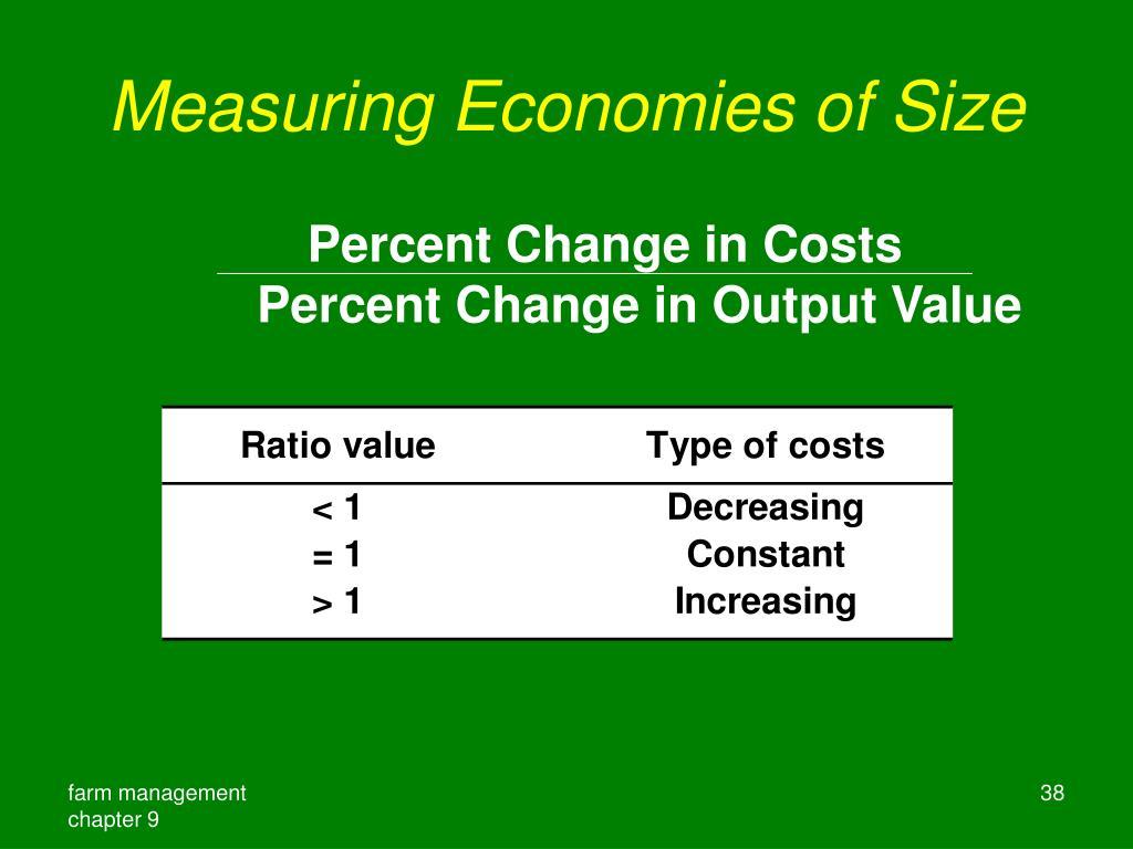 Measuring Economies of Size