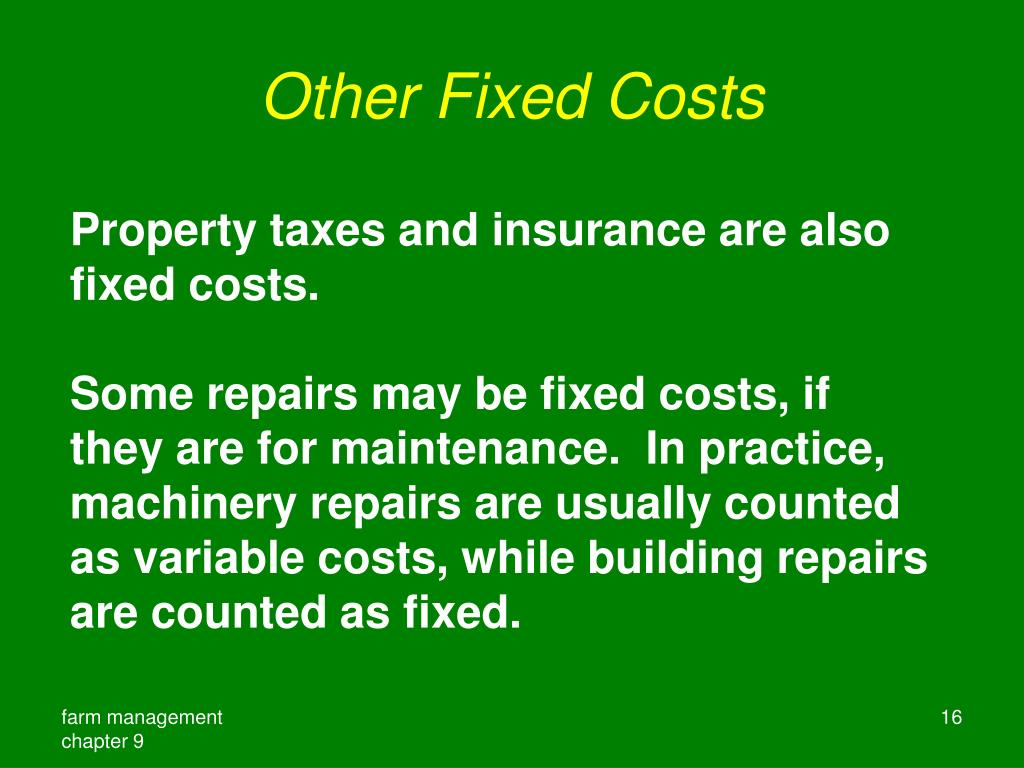 Other Fixed Costs