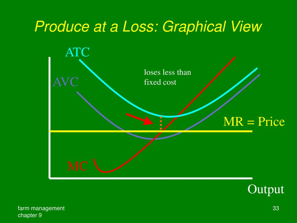 Produce at a Loss: Graphical View
