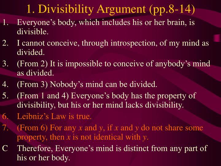 1. Divisibility Argument (pp.8-14)