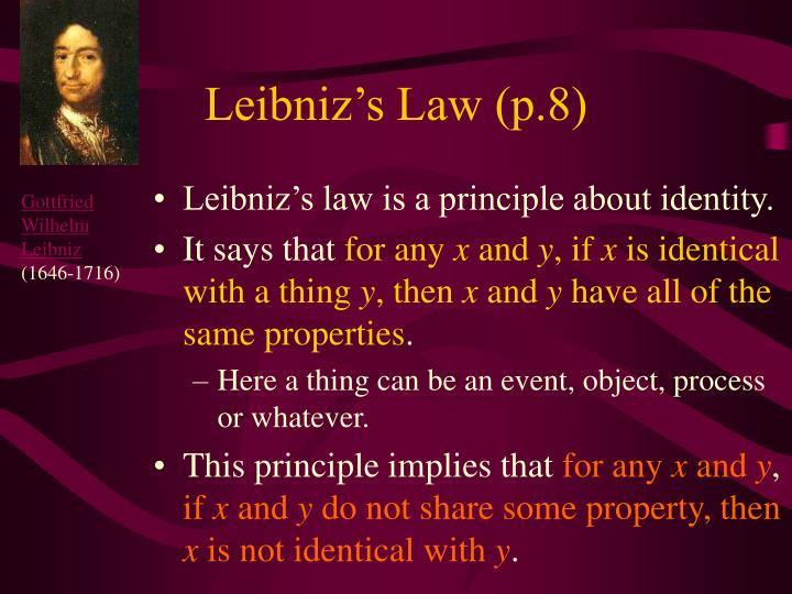 Leibniz's Law (p.8)