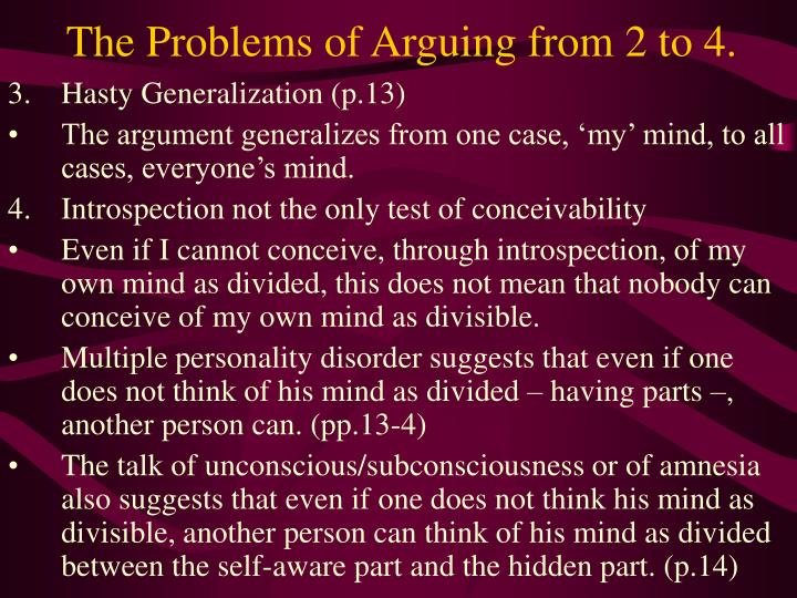 The Problems of Arguing from 2 to 4.