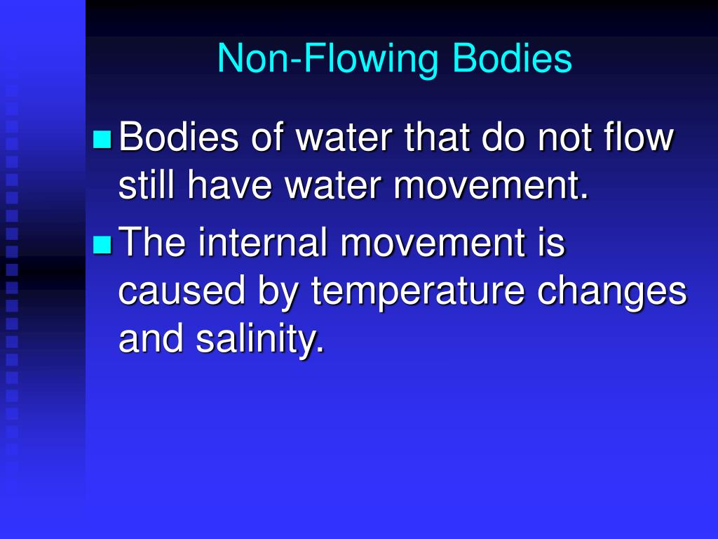 Non-Flowing Bodies