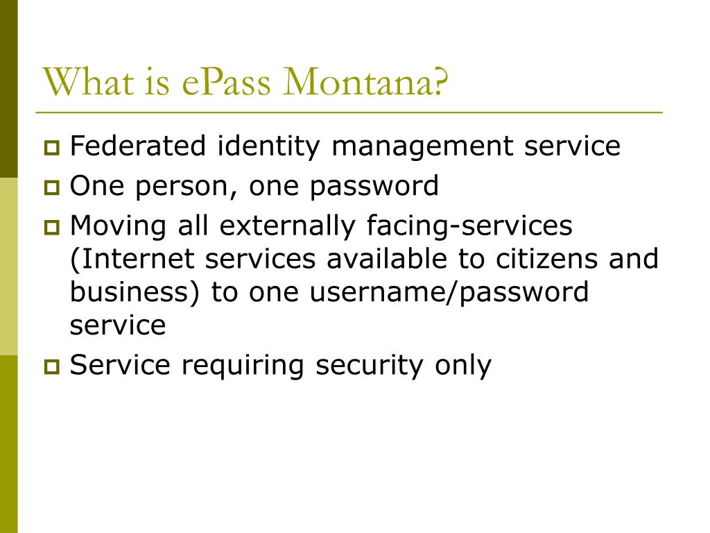 What is ePass Montana?