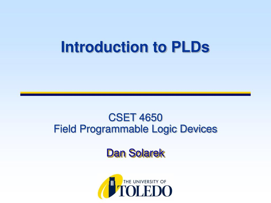 Introduction to PLDs