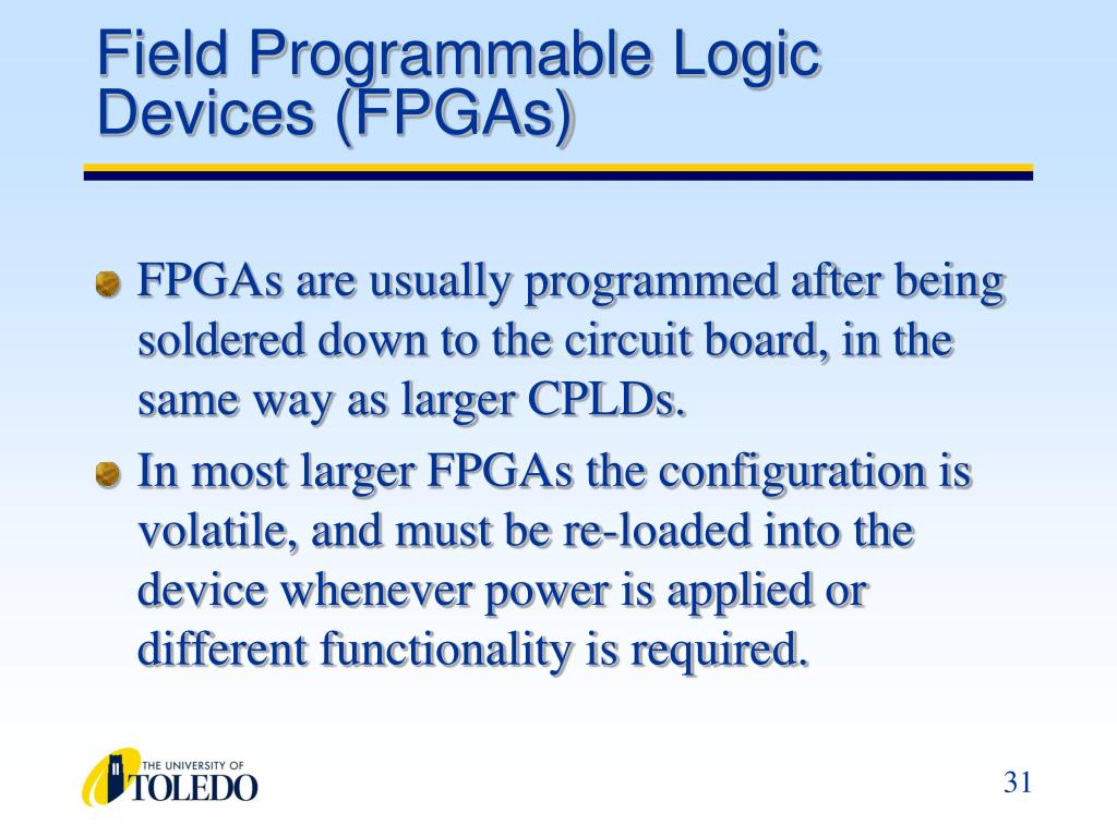 Field Programmable Logic Devices (FPGAs)