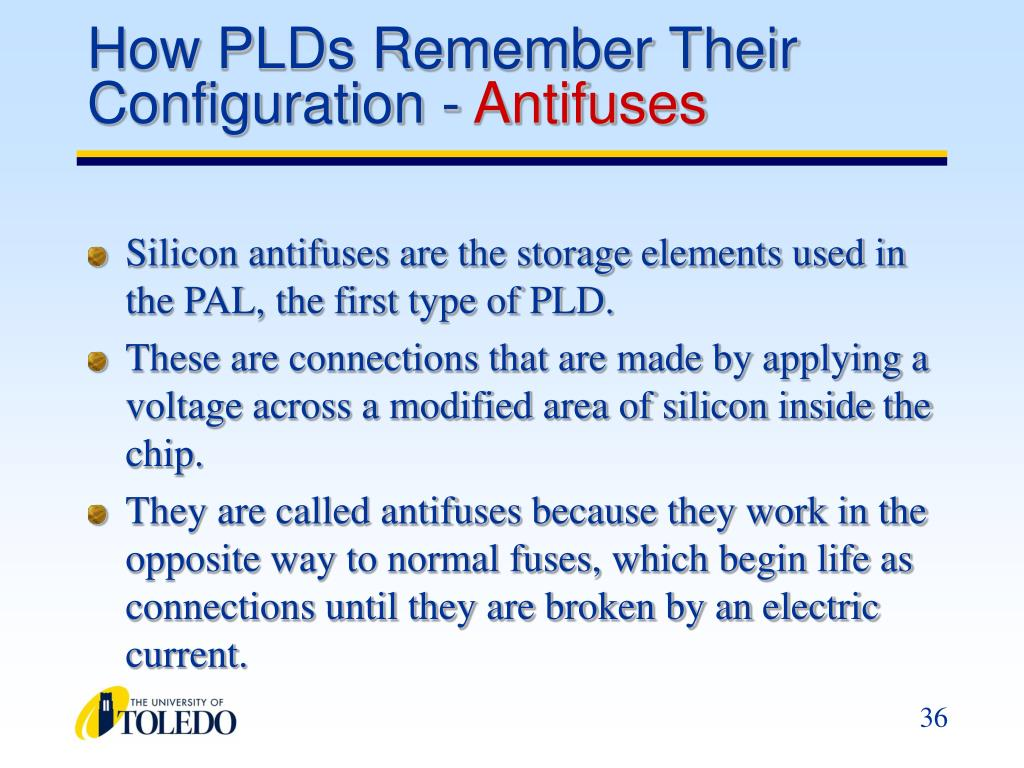How PLDs Remember Their Configuration -