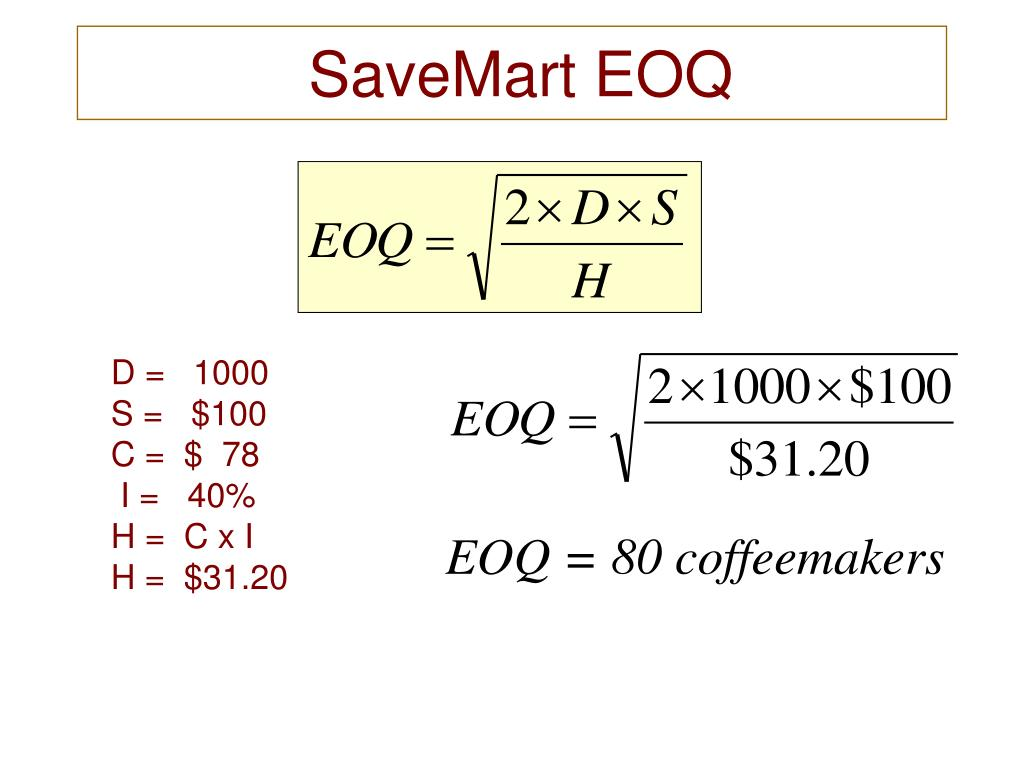 SaveMart EOQ