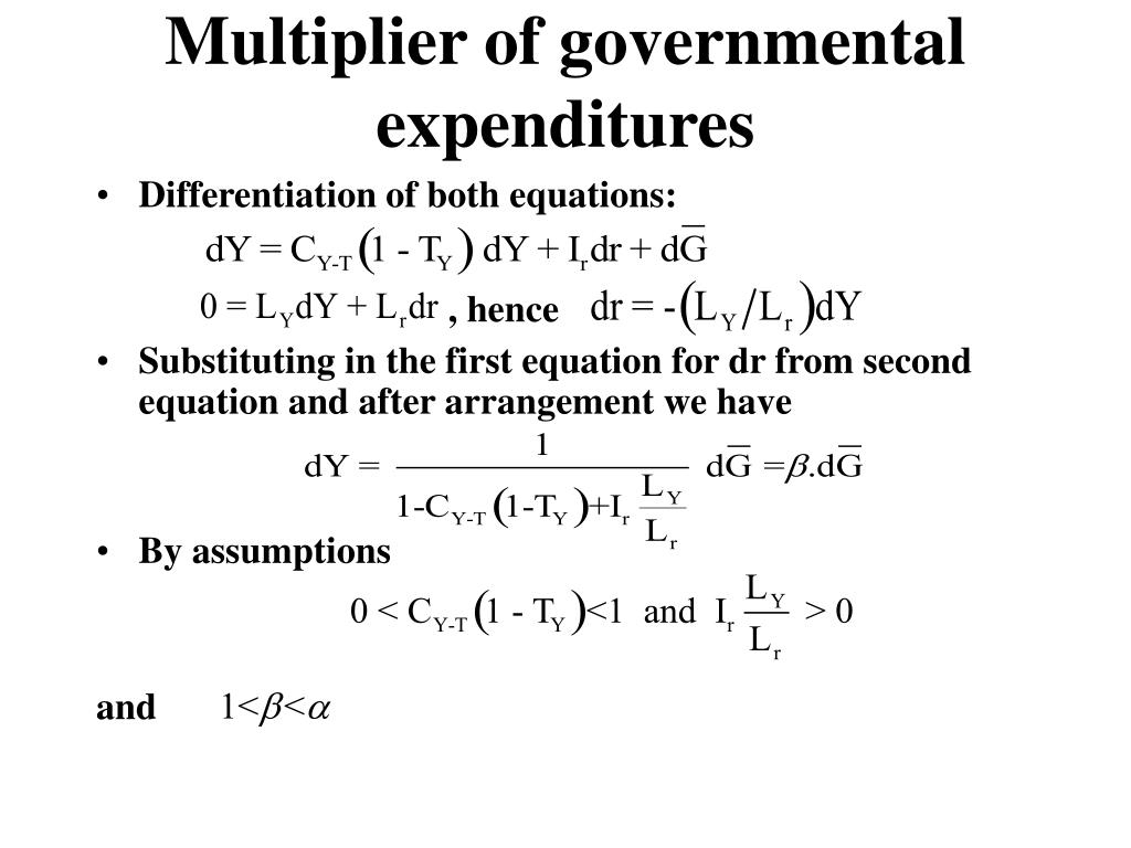 how to find expenditure multiplier