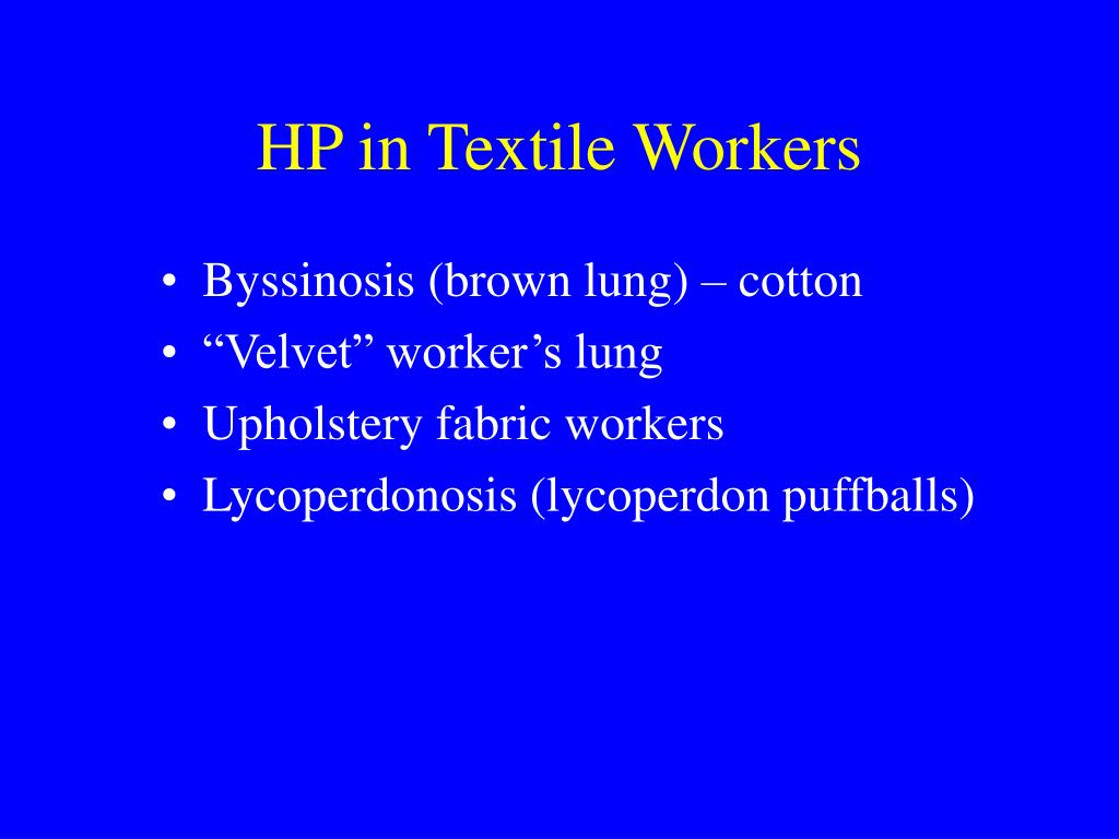 HP in Textile Workers
