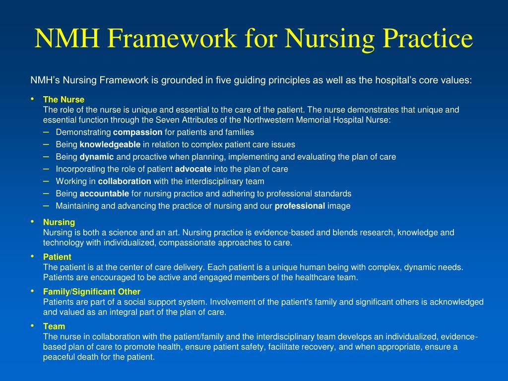 NMH Framework for Nursing Practice