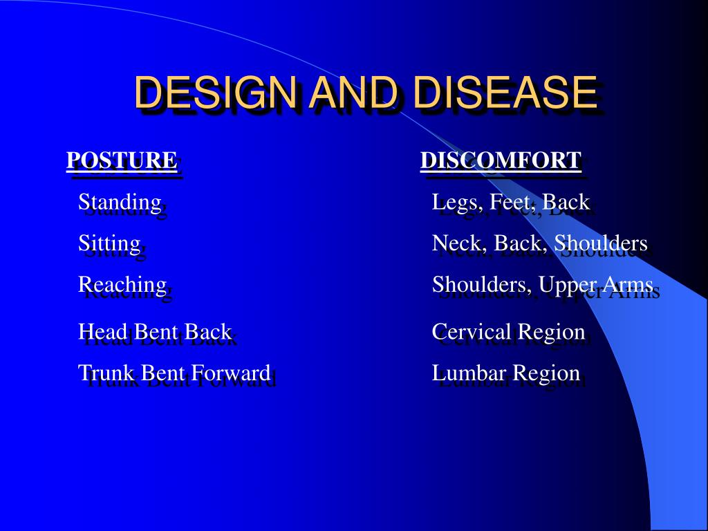 DESIGN AND DISEASE