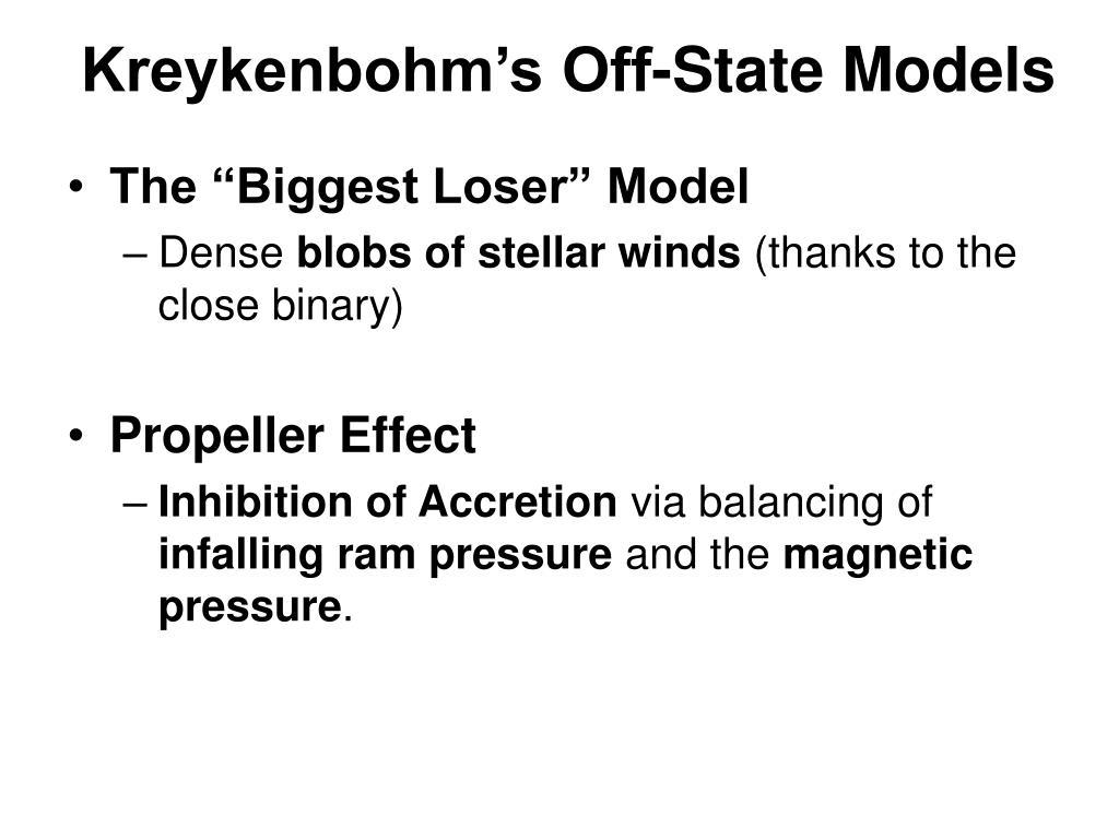 Kreykenbohm's Off-State Models