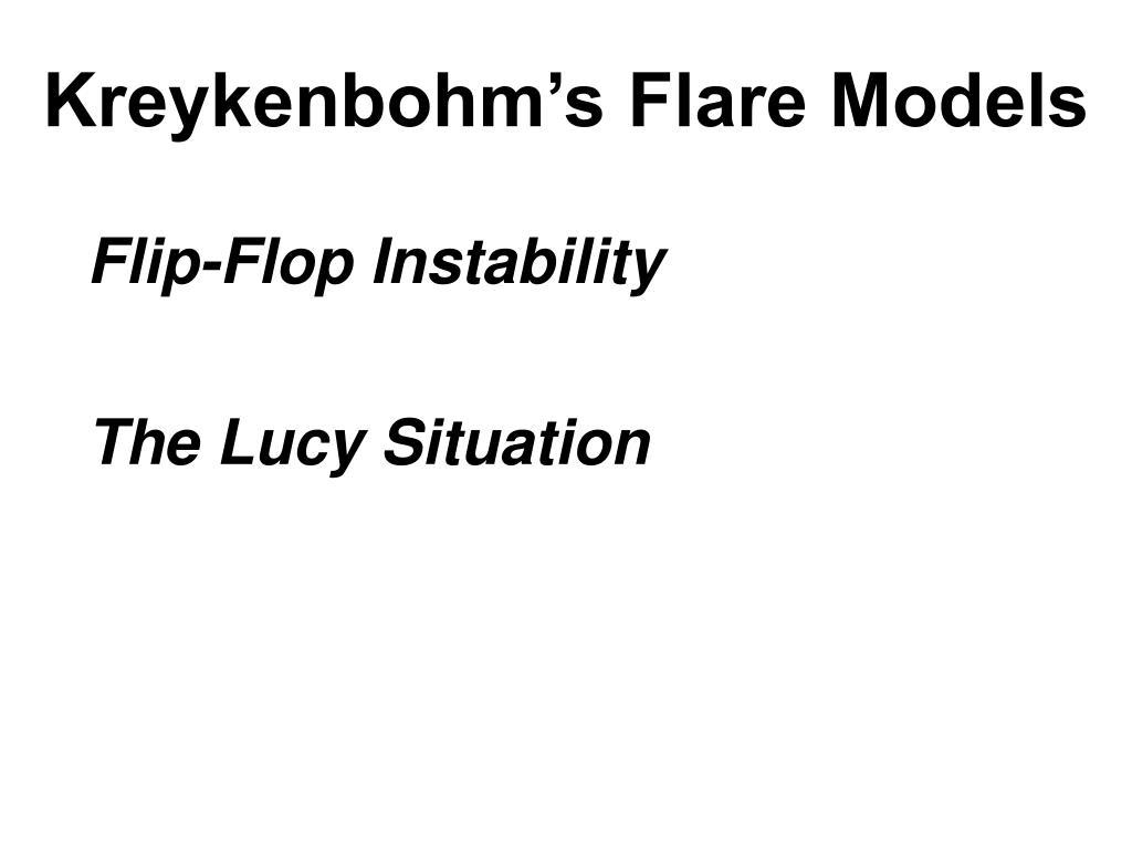 Kreykenbohm's Flare Models