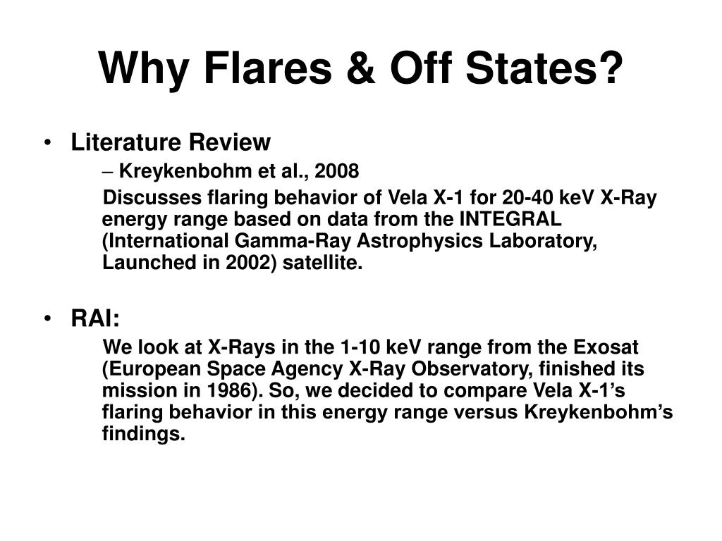Why Flares & Off States?