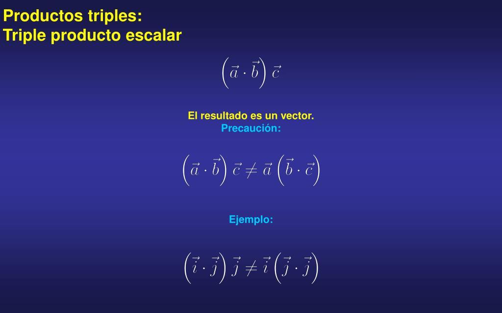 Productos triples: Triple producto escalar