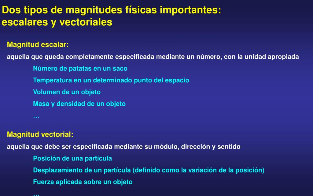 Dos tipos de magnitudes f