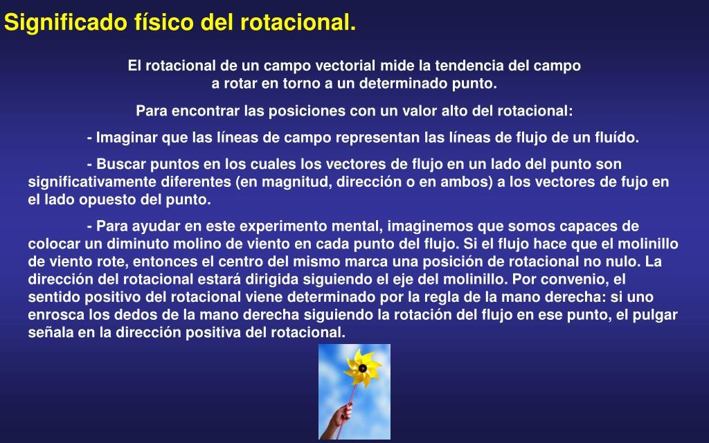 Significado físico del rotacional.