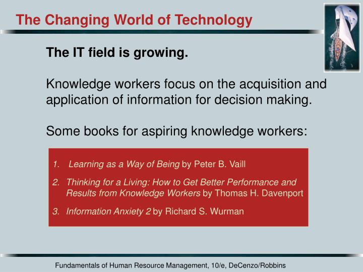 The Changing World of Technology