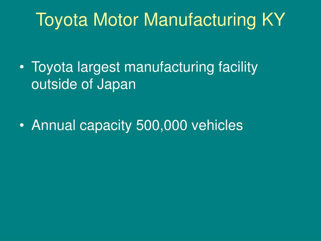 toyota motor manufacturing usa inc case New topic puente hills toyota case analysis new topic optical distortion inc case analysis case study toyota motor corporation toyota motor vehicles - swot analysis toyota motor corporation.