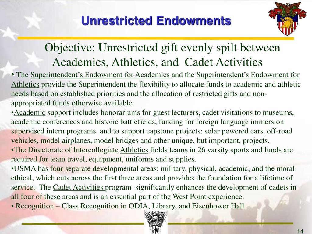 Unrestricted Endowments