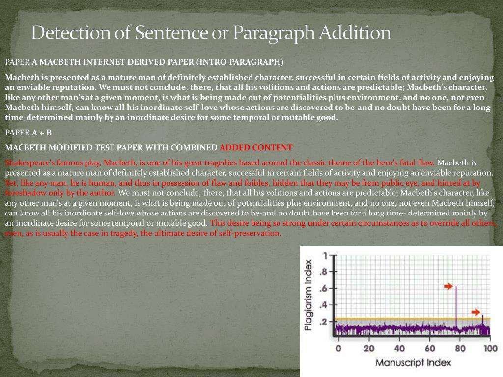 Detection of Sentence or Paragraph Addition