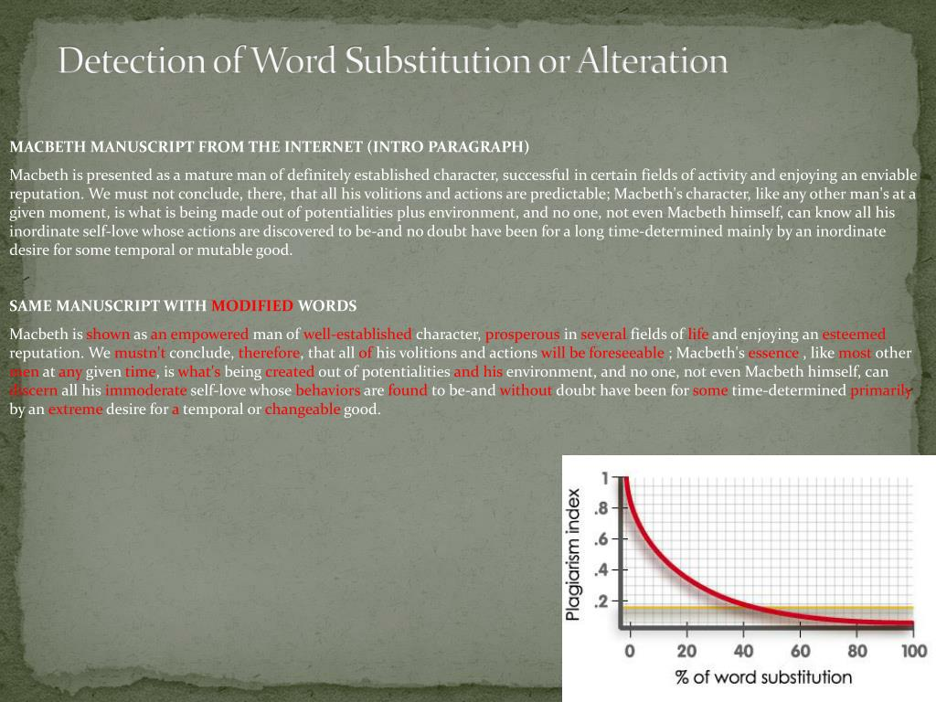 Detection of Word Substitution or Alteration