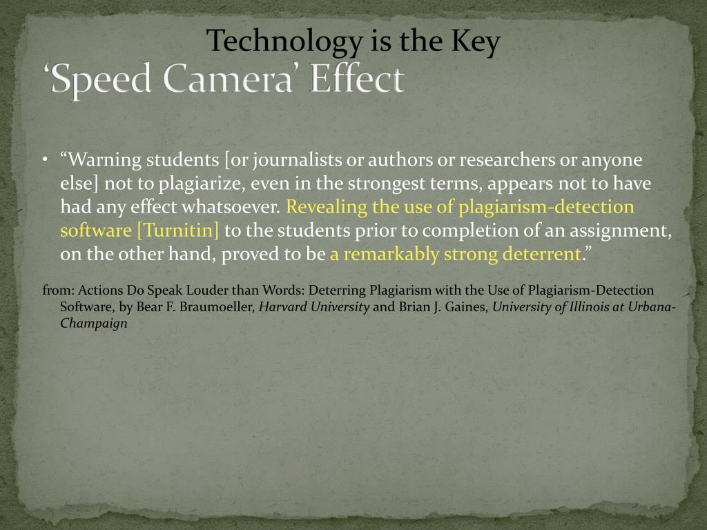 'Speed Camera' Effect