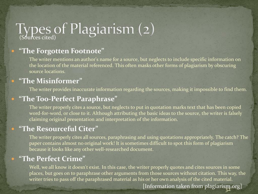 Types of Plagiarism (2)