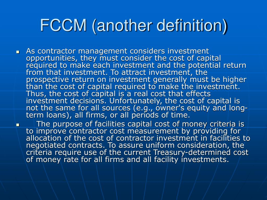FCCM (another definition)