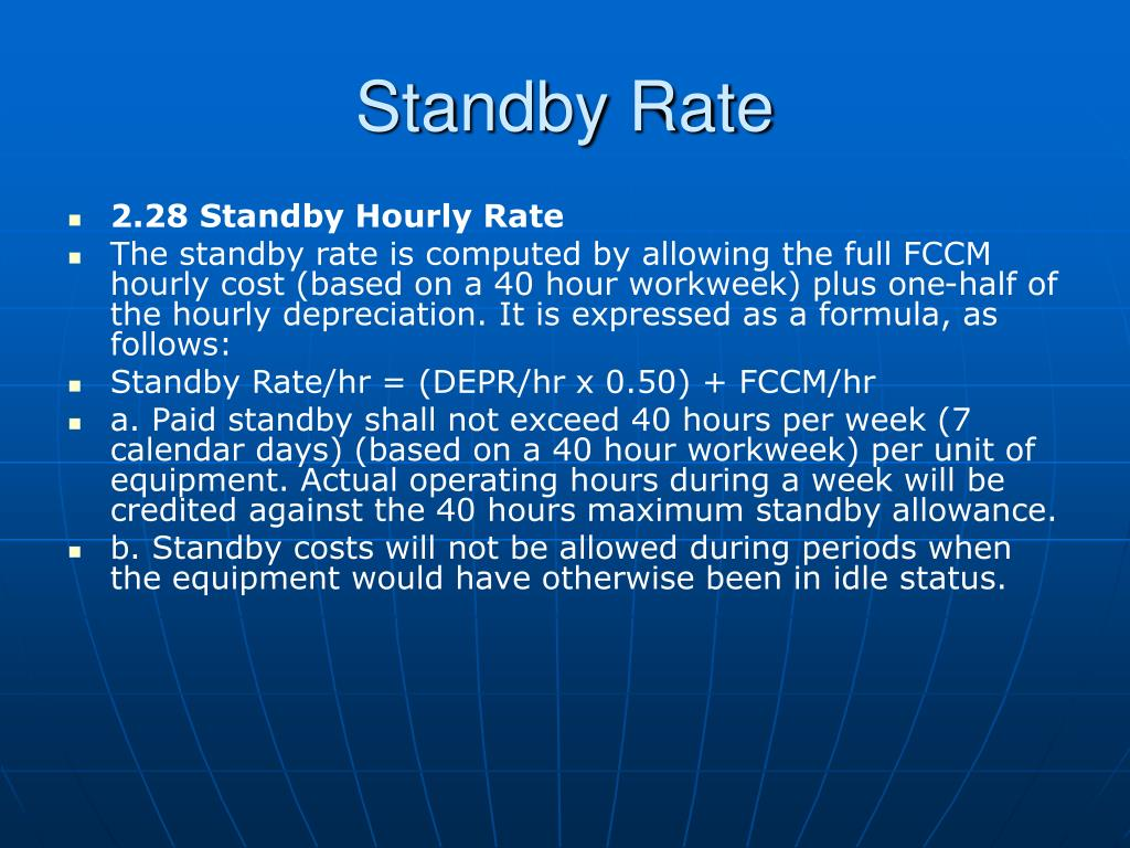 Standby Rate