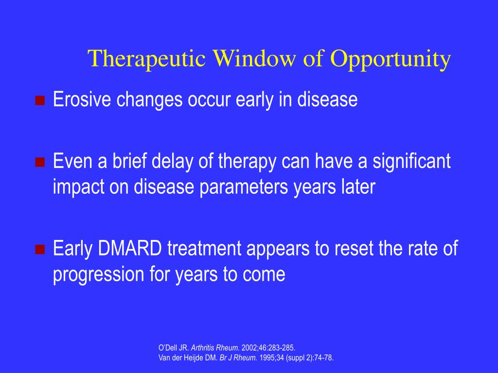 Ppt biological therapy for rheumatoid arthritis for Window of opportunity