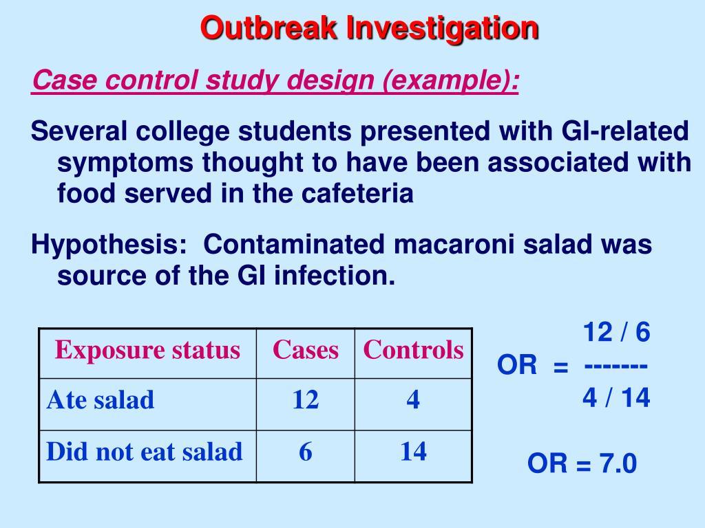 Outbreak Investigation