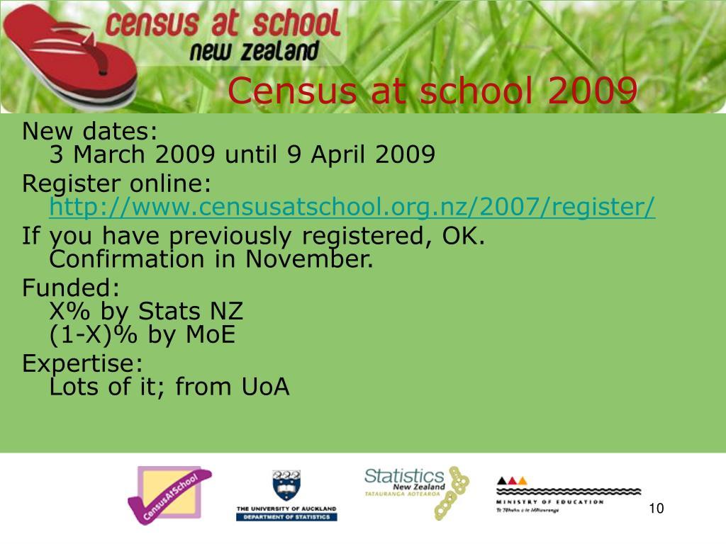 Census at school 2009