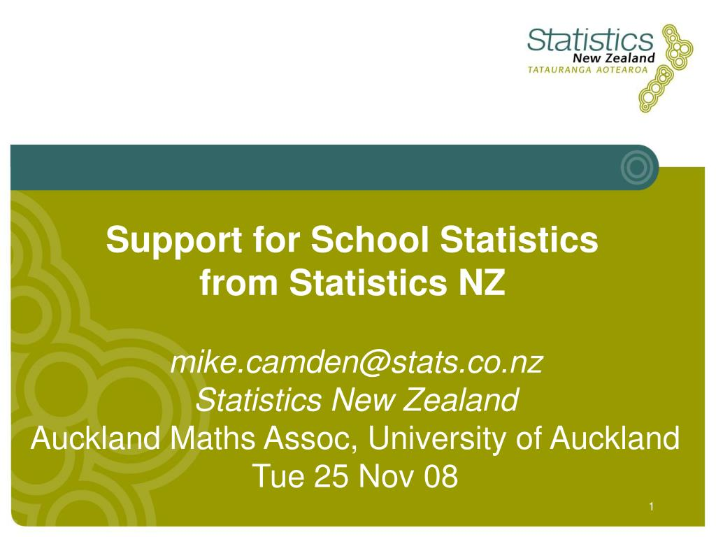 Support for School Statistics