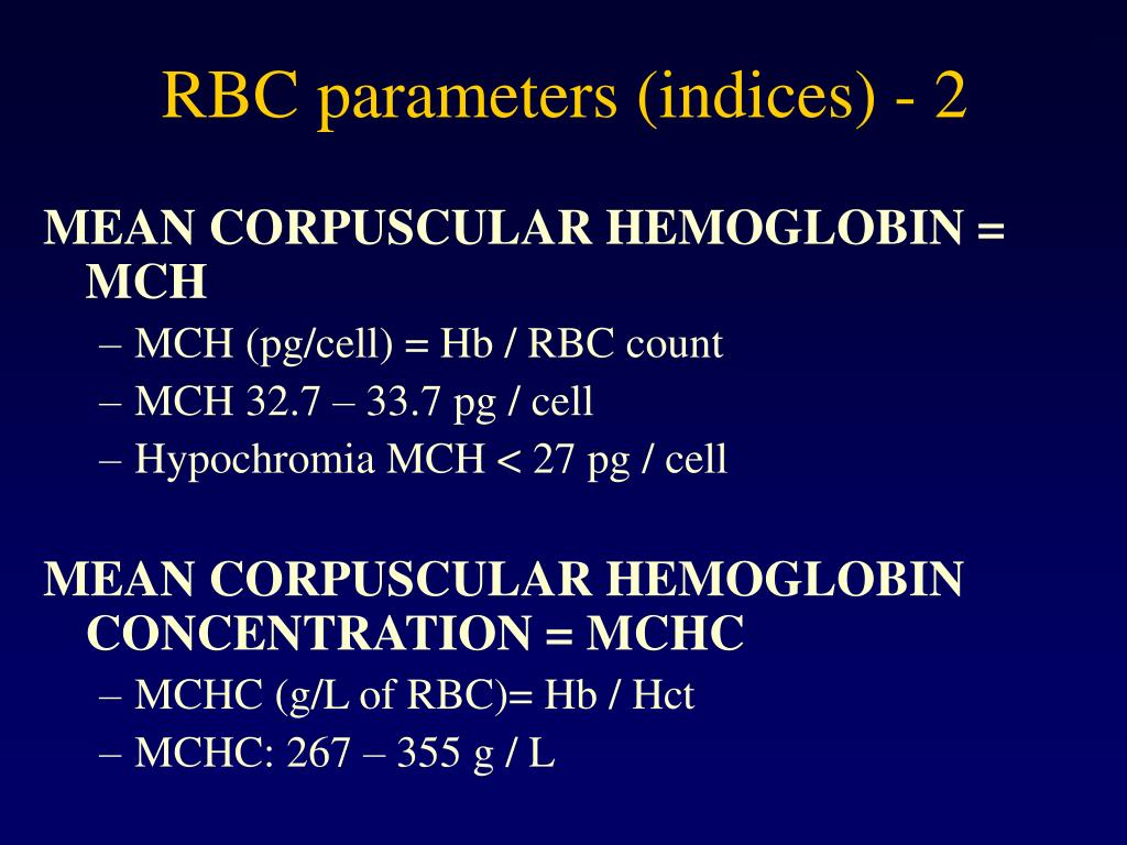 RBC parameters (indices) - 2