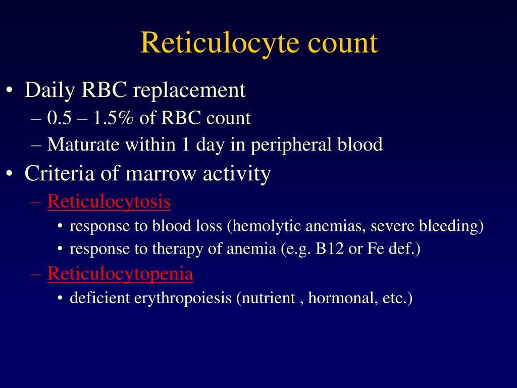 Reticulocyte count