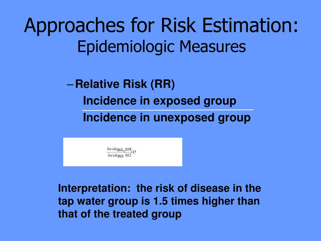 Approaches for Risk Estimation: