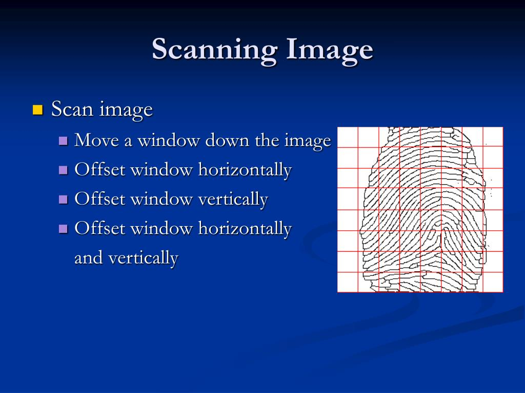 Scanning Image