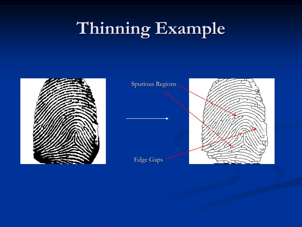 Thinning Example