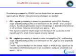 cdaac ro processing overview