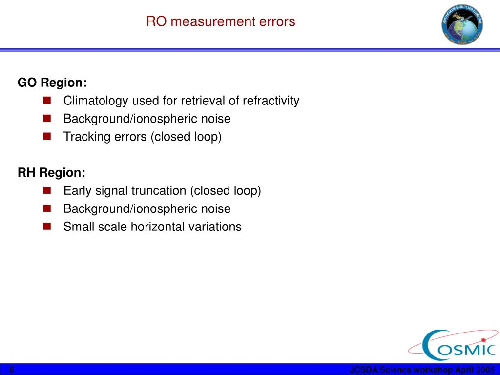RO measurement errors